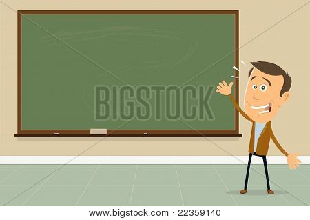 Express Yourself ! - Teacher Showing Blackboard Sign