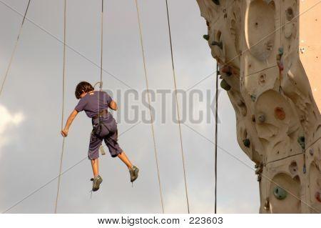 Falling From Climbing Wall I