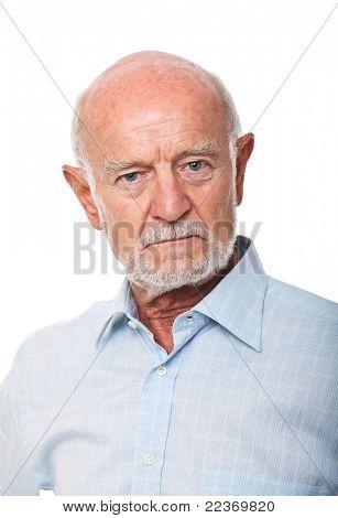 fine portrait of senior man