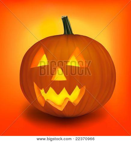 Halloween pumpkin. Vector.