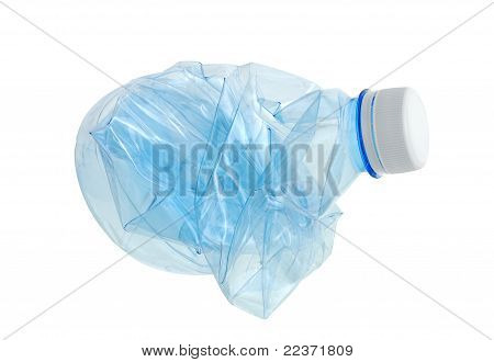 Crushed Empty Plastic Water Bottle