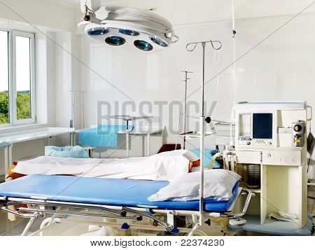 Interior view of operating room.