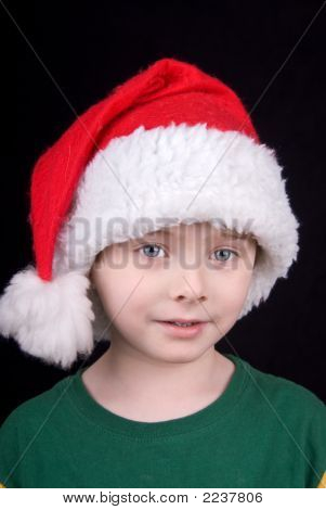 Boy In Christmas Hat