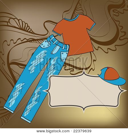 Abstract Background With Clothes
