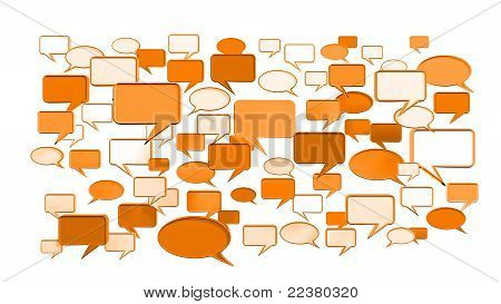 Orange conversation icons