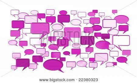 Iconos de conversación rosa
