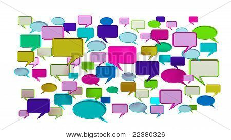 Pink tone Colorful conversation icons