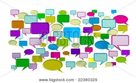 Colorful conversation icons