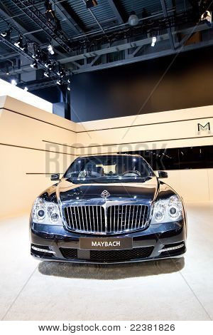Moscow, Russia - August 25: Black Car Maybach  At Moscow International Exhibition Interauto On Augus