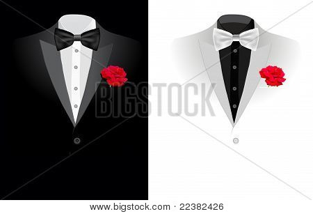 vector black business suit