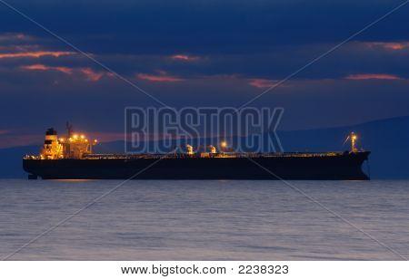 Ship At Dusk