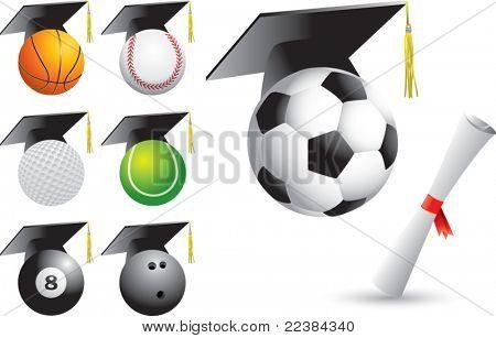 Graduate sports balls