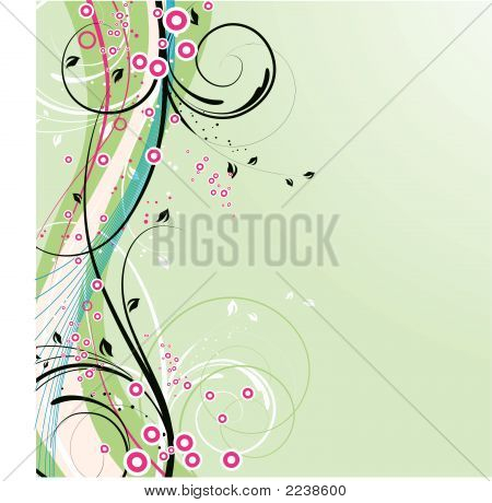 Abstract Floral Background. Vector
