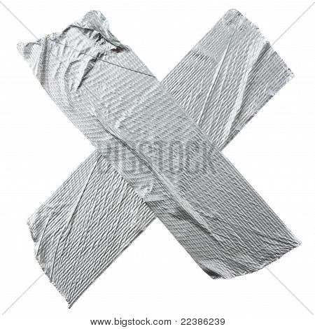 Crossed Duct Tape Strips