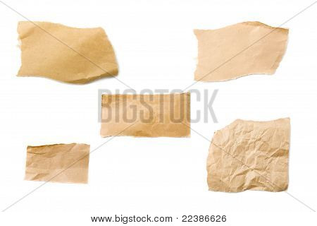 Brown Packaging Paper Pieces