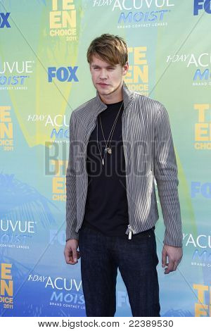 LOS ANGELES - AUG 7:  Chord Overstreet arriving at the 2011 Teen Choice Awards at Gibson Amphitheatre on August 7, 2011 in Los Angeles, CA