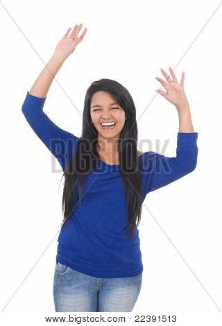 Woman With Happy Smiling Facial Expression