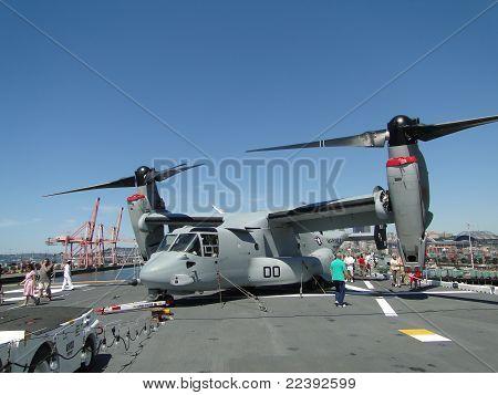 Civilians Inspect An  Mv-22 Osprey