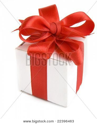 box with red bow