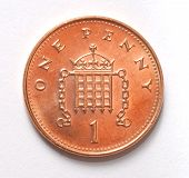 Постер, плакат: Британский Пенни монета