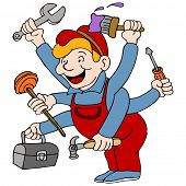 stock photo of handyman  - An image of a handyman who is a jack of all trades - JPG