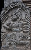 image of belur  - Stone sculpture of Garuda a Mythical Bird in Belur - JPG