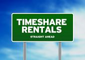 Green Road Sign - Timeshare Rentals