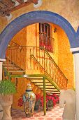 foto of hacienda  - Bright bold bueautiful colors from an Mexican homes - JPG