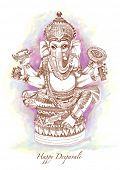 picture of laddu  - Vector Hand Drawn Hindu God Ganesh - JPG