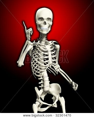 Quizzical Skeleton