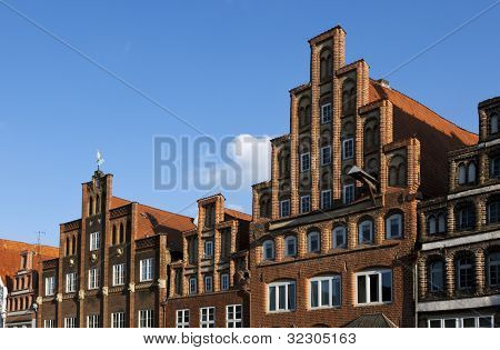 facades at Lunenburgs central square Am Sande