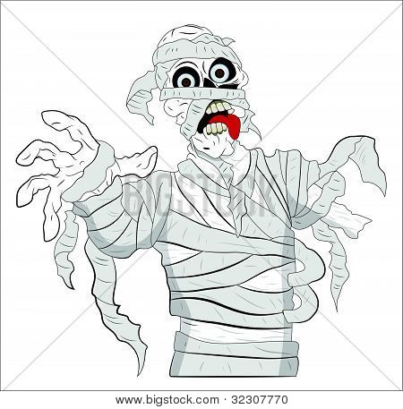 Spooky Mummy Vector