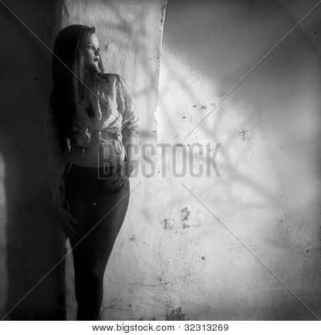 Schwarzweiß-Foto-Kunst-Mode
