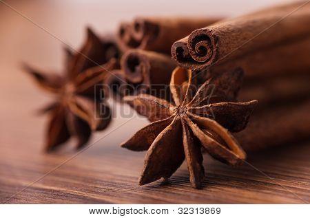 Spices closeup