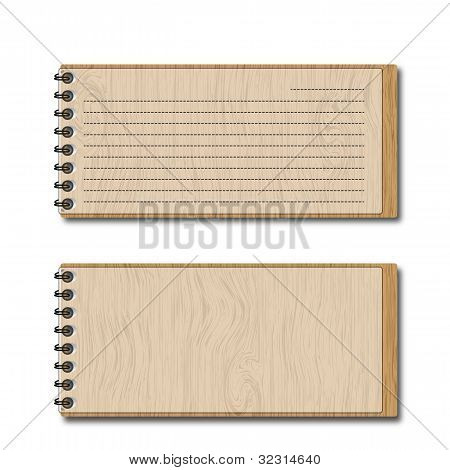New pattern wooden pocketbook and lines papers.