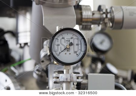 Manometer close up