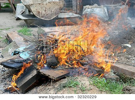 Fire Illegal Burn Litter Flame Toxic