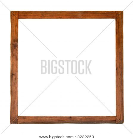 Old Square Wooden Frame Cutout