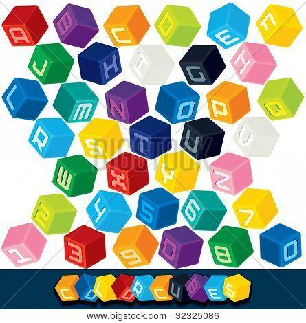 Colored Cube Alphabet