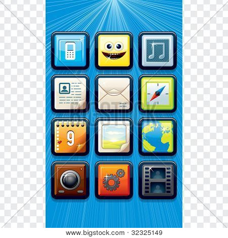 Touchscreen Phone Menu Template