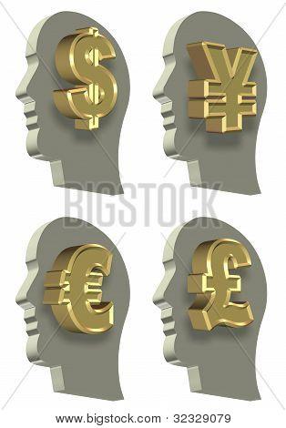 Head And Money Set