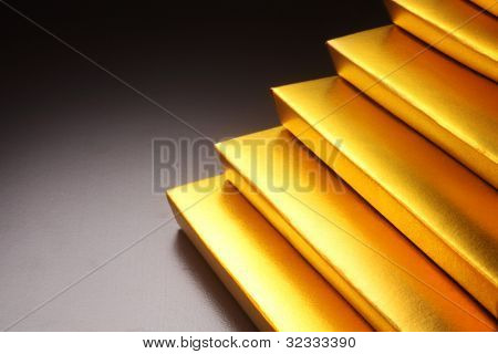 Gold bars stacked up