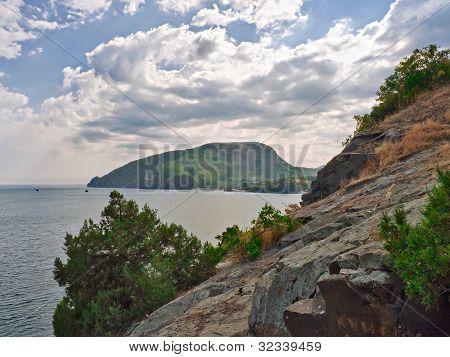 Seascape Of The Crimean Coast.