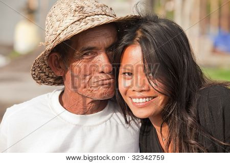 Grandfather And Girl