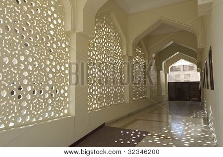 Decoration of Bastakiya Mosque in Dubai