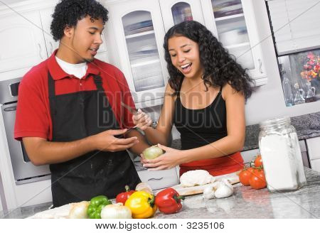 Young Couple Cooking