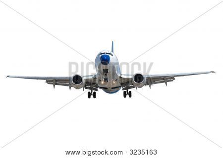Plane Isolated On White Background