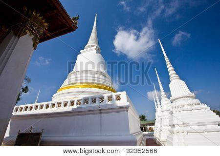 White Pagoda In The Temple