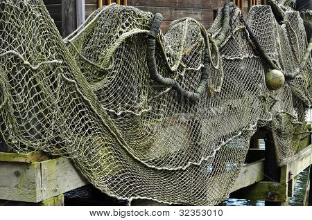 Fishing Nets Hanging Out to Dry