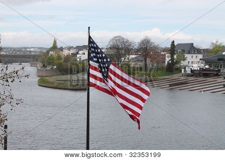 American Flat on The River Mosel,